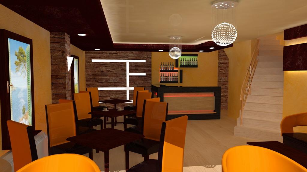 ENTERIJER  3d vizuelizacija dizajn enterijer grafika animacija kafic
